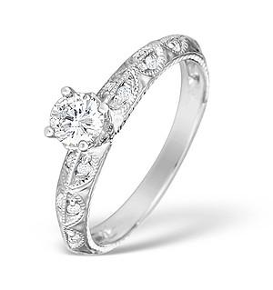 9K White Gold Diamond Set Ring Mount - E4828