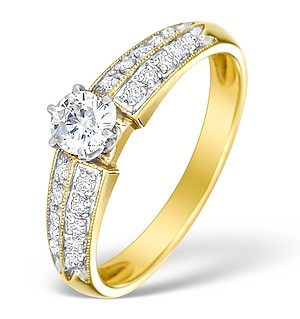9K Gold Diamond Ring Mount - E4821
