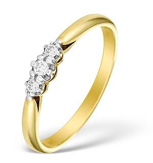 9K Gold Diamond Trilogy Ring - E4910