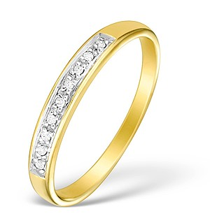 9K Gold Diamond Half Eternity Ring - E4075