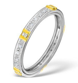 9K Gold Diamond Pave Full Eternity Ring - E4132