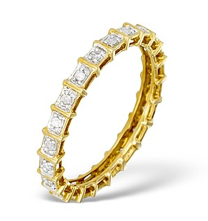 9K Gold Diamond Full Eternity Ring - E5222