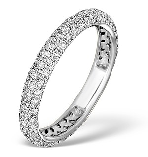 9K White Gold Diamond Full Eternity Ring - E5213