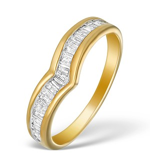 9K Gold Diamond Wishbone Design Ring - E5560