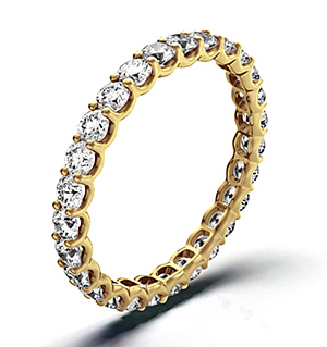 CHLOE 18K Gold DIAMOND FULL ETERNITY RING 1.00CT H/SI