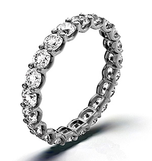 CHLOE 18K White Gold DIAMOND FULL ETERNITY RING 2.00CT G/VS