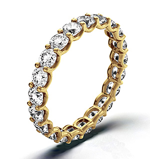 Chloe 18K Gold Diamond Full Eternity Ring 3.00CT G/VS