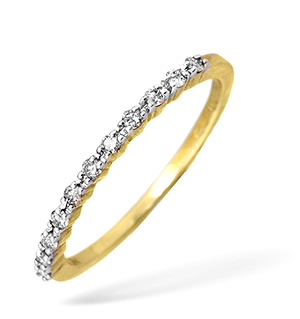 9KY Diamond Half Eternity Ring 0.15CT