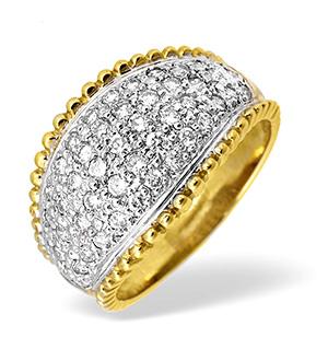 9KY Diamond Pave Ring 0.75CT