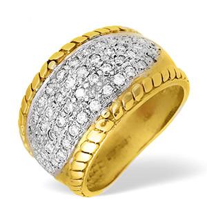 9KY Diamond Pave Ring 1.00CT