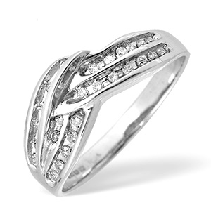 9KW Brilliant Diamond Channel Set Ring 0.25ct