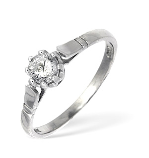 18KW Solitaire Diamond Ring 0.45CT