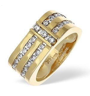 14K Gold Channel Set Diamond Half Eternity Ring