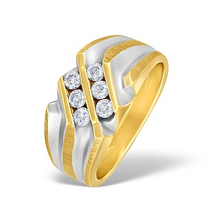 9K Gold Diamond Channel Set Design Ring