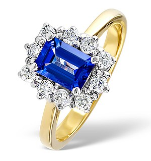 18K Gold 0.50CT Diamond and 1.20CT Tanzanite Ring