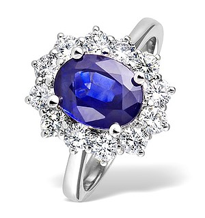 18K White Gold 1.00CT Diamond and 1.70CT Tanzanite Ring