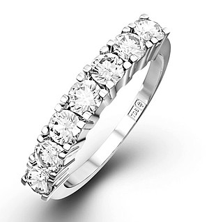Chloe 18K White Gold 7 Stone Diamond Eternity Ring 1.00CT G/VS