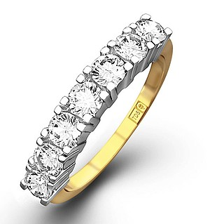Chloe 18K Gold 7 Stone Diamond Eternity Ring 0.75CT H/SI