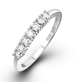 Chloe 18K White Gold 7 Stone Diamond Eternity Ring 0.50CT H/SI