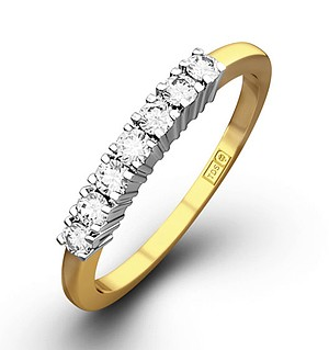 Chloe 18K Gold 7 Stone Diamond Eternity Ring 0.30CT H/SI