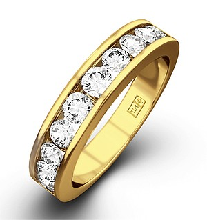 Rae 18K Gold Diamond Half Band Eternity Ring 1.50CT G/VS