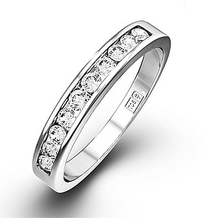 Rae 18K White Gold Diamond Half Band Eternity Ring 0.25CT H/SI