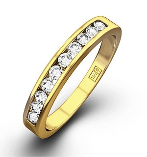 Rae 18K Gold Diamond Half Band Eternity Ring 0.25CT G/VS