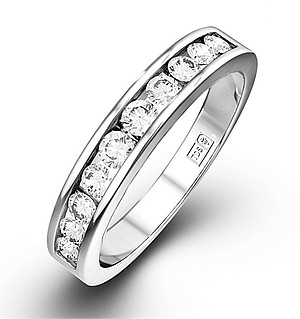 Rae 18K White Gold Diamond Half Band Eternity Ring 0.50CT H/SI