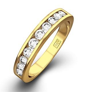 Rae 18K Gold Diamond Half Band Eternity Ring 0.50CT H/SI