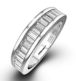 18K White Gold Baguette Diamond Eternity Ring 0.75CT H/SI
