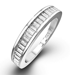 18K White Gold Baguette Diamond Eternity Ring 0.50CT H/SI