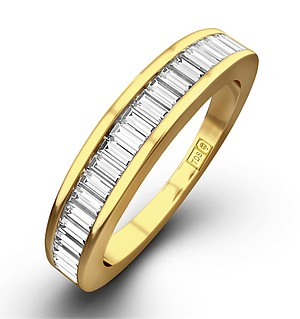 18K Gold Baguette Diamond Eternity Ring 0.25CT H/SI