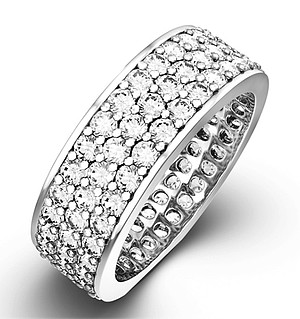 TIA PLATINUM DIAMOND FULL ETERNITY RING 3.00CT G/VS