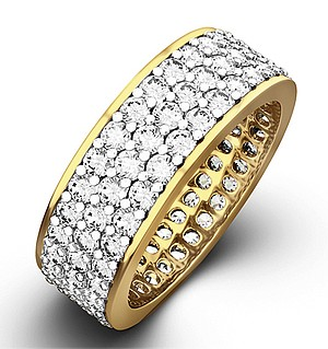 TIA 18KY DIAMOND FULL ETERNITY RING 3.00CT H/SI