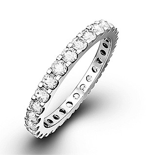 ERIN 18K White Gold DIAMOND FULL ETERNITY RING 1.00CT G/VS