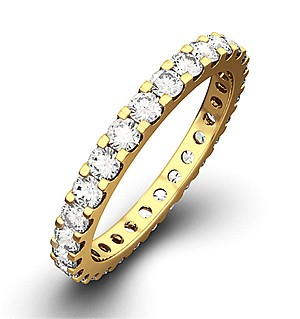 ERIN 18K Gold DIAMOND FULL ETERNITY RING 1.00CT H/SI