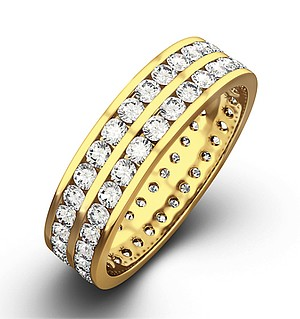 LUCY 18K Gold DIAMOND FULL ETERNITY RING 1.00CT H/SI