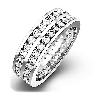 LUCY 18K White Gold DIAMOND FULL ETERNITY RING 2.00CT G/VS