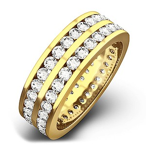 LUCY 18K Gold DIAMOND FULL ETERNITY RING 2.00CT H/SI