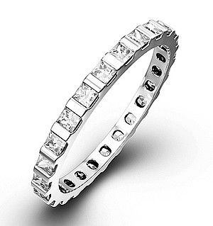 OLIVIA PLATINUM DIAMOND FULL ETERNITY RING 1.00CT G/VS