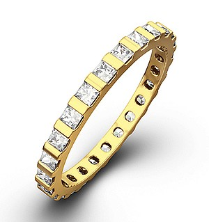 OLIVIA 18K Gold DIAMOND FULL ETERNITY RING 1.00CT H/SI