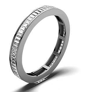 GRACE 18K White Gold DIAMOND FULL ETERNITY RING 1.00CT G/VS