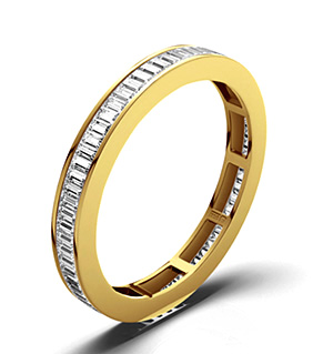 GRACE 18K Gold DIAMOND FULL ETERNITY RING 1.00CT H/SI