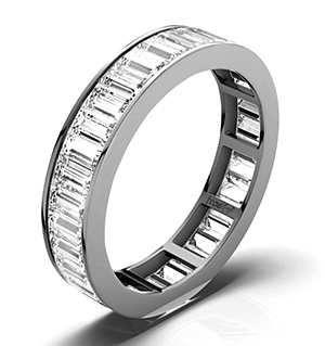 GRACE PLATINUM DIAMOND FULL ETERNITY RING 2.00CT G/VS