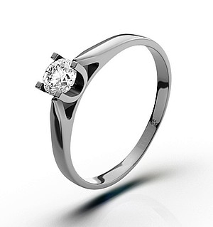 Grace 18K White Gold Diamond Engagement Ring 0.25CT-H-I/I1