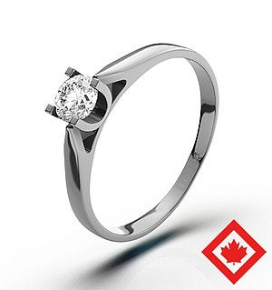 Grace 18K White Gold Canadian Diamond Ring 0.30CT H/SI1