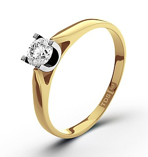 Grace 18K Gold Diamond Engagement Ring 0.25CT-F-G/VS