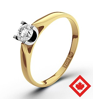 Grace 18K Gold Canadian Diamond Ring 0.30CT G/VS1