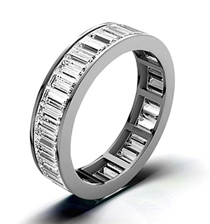 GRACE 18K White Gold DIAMOND FULL ETERNITY RING 3.00CT G/VS