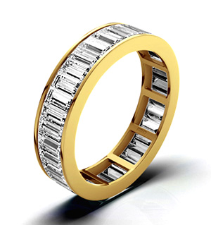 GRACE 18K Gold DIAMOND FULL ETERNITY RING 3.00CT H/SI